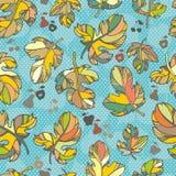 Nahtloses Muster der Herbstblätter. Stockfotos