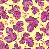 Nahtloses Muster der Herbstblätter. Lizenzfreie Stockbilder