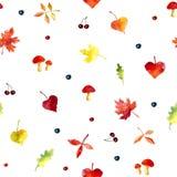 Nahtloses Muster der Herbstblätter Stockbild