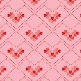 Nahtloses Muster der Herzblumen-Form Lizenzfreie Stockfotos