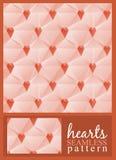 Nahtloses Muster der Herzen Stockbild