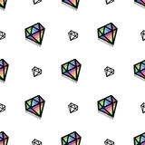 Nahtloses Muster der Hintergrundmodediamantartpixel-Kunst stock abbildung