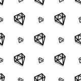 Nahtloses Muster der Hintergrundmodediamantartpixel-Kunst vektor abbildung