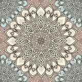 Nahtloses Muster der in hohem Grade ausführlichen Mandala in Pastelltöne Ethnisches Motiv Stockbild