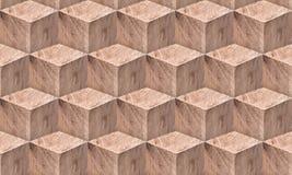 Nahtloses Muster der Holzklötze Lizenzfreie Stockfotografie
