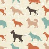 Nahtloses Muster der Hunderassen Stockbild