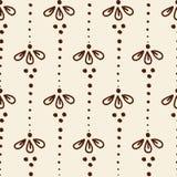 Nahtloses Muster der indischen Art mit ethnischen Blumen vektor abbildung