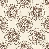 Nahtloses Muster der indischen Art mit ethnischen Blumen lizenzfreie abbildung