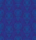 Nahtloses Muster in der japanischen Art mit stilisiertem geometrischem und f Lizenzfreies Stockbild