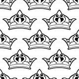 Nahtloses Muster der königlichen Krone Lizenzfreies Stockfoto