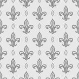 Nahtloses Muster der königlichen Lilie Lizenzfreies Stockfoto