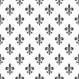 Nahtloses Muster der königlichen Lilie Lizenzfreie Stockbilder