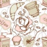 Nahtloses Muster der Küche Stockfotos