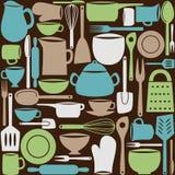 Nahtloses Muster der Küchengeräte Lizenzfreie Stockfotos