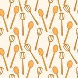 Nahtloses Muster der Küchenspachtel vektor abbildung