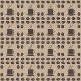 Nahtloses Muster der Kaffeebohne Lizenzfreie Stockfotos
