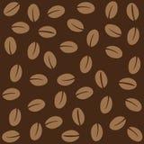 Nahtloses Muster der Kaffeebohnen vektor abbildung