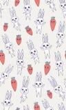 nahtloses Muster der Kaninchenkarotte Lizenzfreie Stockfotos