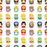 Nahtloses Muster der Karikaturgeschichte-Leute Stockbilder