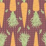 Nahtloses Muster der Karotten lizenzfreie stockfotografie