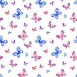 Nahtloses Muster der Kindheit mit netten Schmetterlingen stock abbildung