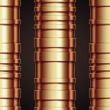 Nahtloses Muster der kupfernen Rohrleitung. Lizenzfreies Stockfoto