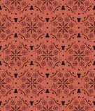 Nahtloses Muster der ledernen Blumenspitzes Stockbilder