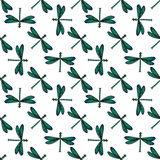 Nahtloses Muster der Libelle Vektor Stock Abbildung