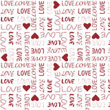 Nahtloses Muster der Liebe Stock Abbildung