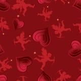 Nahtloses Muster der Liebe. Stockfotos
