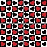 Nahtloses Muster der Liebe. Stockfotografie