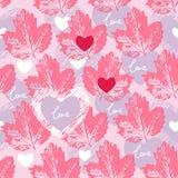 Nahtloses Muster der Liebe dekorativ, Hintergrund Lizenzfreies Stockfoto