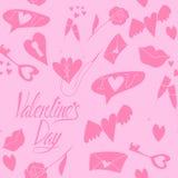 Nahtloses Muster der Liebe zum Valentinstag stock abbildung