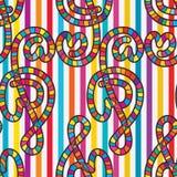 Nahtloses Muster der Liebesmusik-Anmerkung Lizenzfreies Stockfoto