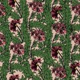 Nahtloses Muster der magischen Tulpen lizenzfreie abbildung