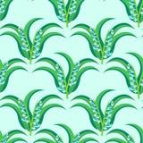 nahtloses Muster der Mai-Lilie Stockbilder