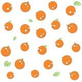 Nahtloses Muster der Mandarine Lizenzfreie Stockfotos