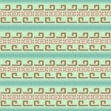 Nahtloses Muster in der Mayaart Stockfotos