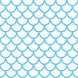 Nahtloses Muster der Meerjungfrau Fischschuppehintergrund Blaue Beschaffenheit für Ihr Design Lizenzfreies Stockfoto
