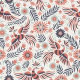 Nahtloses Muster der mexikanischen Stickerei des Vektors lizenzfreie abbildung