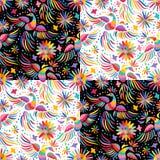 Nahtloses Muster der mexikanischen Stickerei des Vektors vektor abbildung