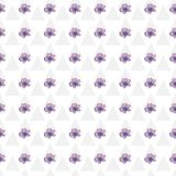 Nahtloses Muster der modernen Aquarellart mit Lavendel, Beschaffenheitshintergrund Botanische Illustration Lizenzfreie Stockfotografie