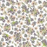 Nahtloses Muster der modernen Aquarellart mit Lavendel, Beschaffenheitshintergrund Botanische Illustration Stockbilder