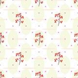 Nahtloses Muster der Moosbeere Lizenzfreies Stockbild