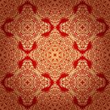 Nahtloses Muster in der Mosaik-ethnischen Art. Lizenzfreie Stockbilder