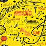 Nahtloses Muster der Musik lizenzfreie stockfotos