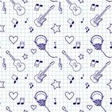 Nahtloses Muster der Musik stockbilder
