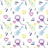 Nahtloses Muster der Musik lizenzfreie stockbilder