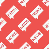 Nahtloses Muster der Nachrichtenmitteilung auf rotem Hintergrund Lizenzfreie Stockbilder