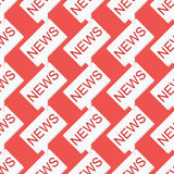 Nahtloses Muster der Nachrichtenmitteilung auf rotem Hintergrund Lizenzfreies Stockfoto